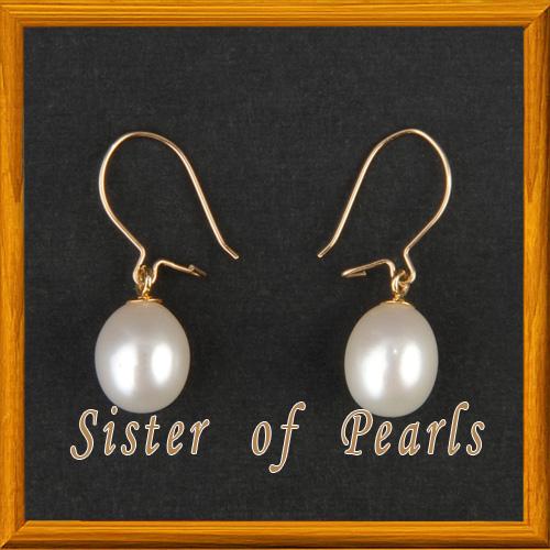 Boucles Dormeuses Blanc Or Bijoux En Perles De Culture
