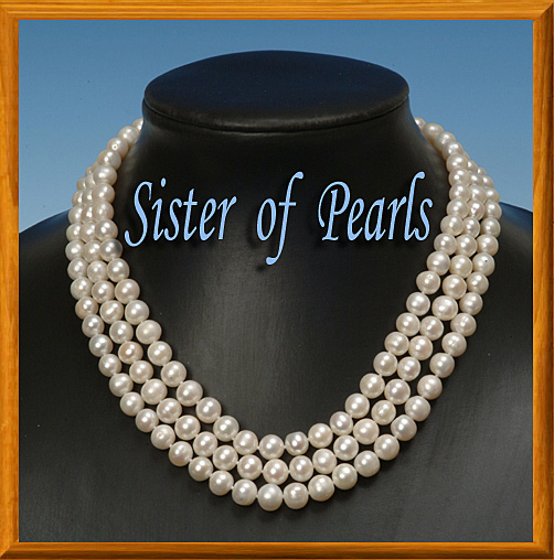 collier perle de culture 3 rangs