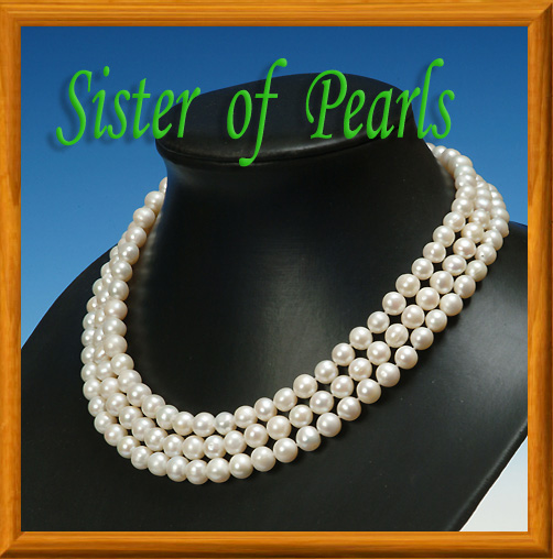 collier perle 3 rangs
