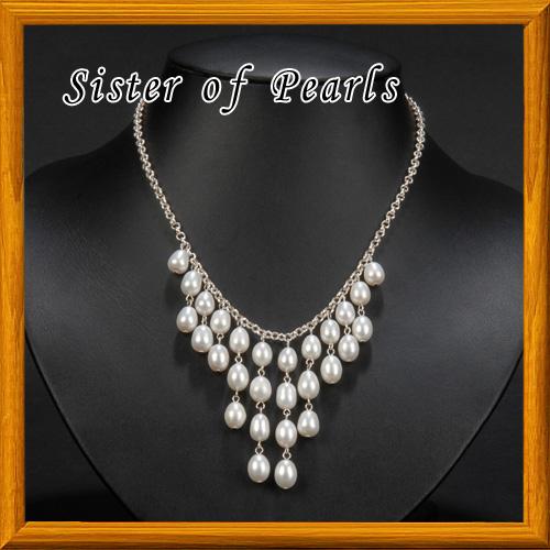 collier rivi re de perles blanches argent bijoux en. Black Bedroom Furniture Sets. Home Design Ideas